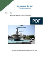 Ensayo Del Cluster Turistico en Actopan Ixmiquilpan