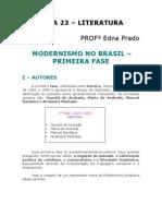 Literatura - Aula 23 - Modernismo no Brasil - 1ª fase