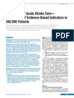 The Quality of Acute Stroke Care— an Analysis of Evidence-Based Indicators in 260 000 Patients