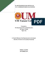Final Written Report and Portfolio in[1]