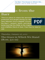 Sermons From the Barr the Grace in Which We Stand (Rom. 51-11)