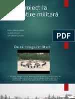 Proiect La Pregătire Militară