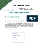Literatura - Aula 20 - Vanguarda européia