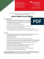 Stellenanzeige Junior Grafiker Digital