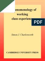 Charlesworth,S. - Phenomenology of Working Class.pdf