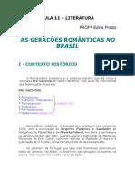Literatura - Aula 11 - Gerações Românticas no Brasil