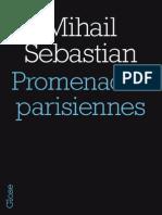 Promenades parisiennes, de Mihail Sebastian