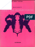 Manuel Pratique Du Test de Rorschach