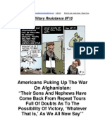 Military Resistance 8F15 Americans Puking Up the War