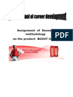 Research Methodology Project on Boost