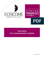 E-tm-1-t2 Tage Mage - Test d Entrainement Corrige