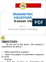 Math14 Lesson 14 Parametric Equations