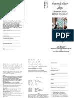 HDS Summer Intensive '10 Brochure