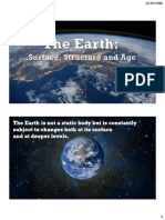 The Earth (Surface, Structure and Age)