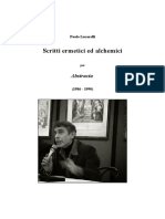 Paolo Lucarelli - Scritti Ermetici Ed Alchemici Per Abstracta
