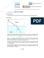 Refractive Index of a Liquid (Theory)