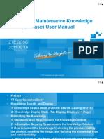 After-sales Maintenance Knowledge Base (TT Case) User Manual