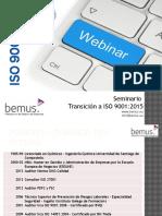 Transición ISO 9001:2015 - Requisitos y metodologia
