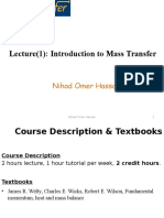 Lecture(1)Introduction to Mass Transfer