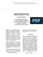 Mecánica de La Fractura, Pasado, Presente y Futuro