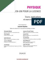 Physique Tout-En-un Pour La Licence - Cours, Applications Et Exercices Corrigés