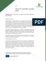 Alternative financing for renewable energies and energy efficiency