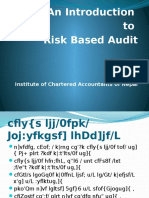 Risk Base Audit PPT