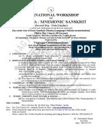 Workshops Sanskrit Second Step