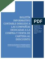 Boletín Informativo Compra y Venta de Cartera