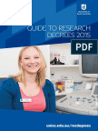 Guide to Research Degrees 2015