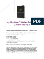 The Hard Drive Jay Abrahams Lifetime Reference Library Contents