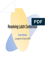 Resolving Latch Contention