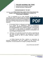 COMUNICADO PNP N° 07 - 2017