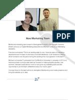 New Marketing Team