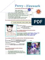 3692 Song Worksheet Katy Perry Firework