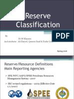 Reserve Classifications 01