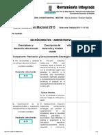 Autoevaluación Institucional 2015