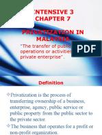 PUBLIC FINANCE Privatization
