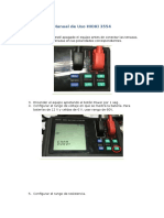 Manual de Uso HIOKI 3554