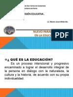 1. Nuevo Paradigma en La Educacion SUEDU