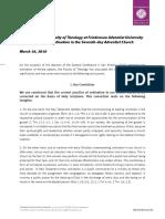 2016 Statement on Ordination Friedensau