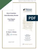 Hamilton proposed ward boundary