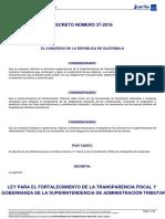 Ley Para El Fortalecimiento de La Transparencia Fiscal 37-2016