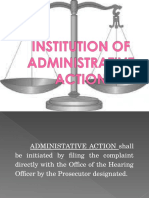 01 Institution of Administrative Action