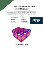 Calculo Estructural Sap Lecho de Secado