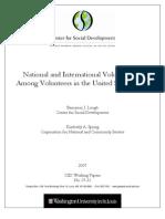 National and International Volunteering