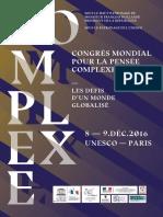 Livret Congres de La Pensee Complexe2016