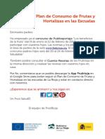 Info Concurso y App PLAN DE FRUTAS