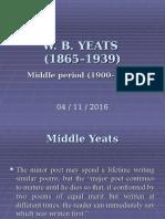 2) Irish Middle W.B.yeatS
