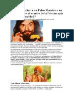 Como Detectar a Un Falso Maestro o Un Mentiroso en El Mundo de La Psicoterapia y La Espiritualidad